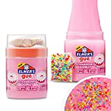 Elmer's 2137179 GUE Premade, Strawberry Donut Fluffy, Scented, Includes Rainbow Sprinkle Slime Add-Ins, 2 Count, Pink