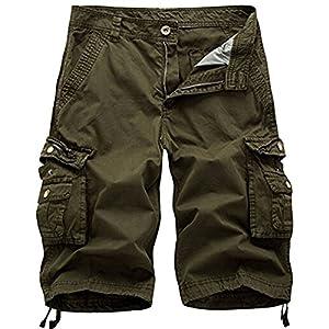 Cargohose kurz Herren Shorts mit 6 Taschen inkl. aus 100% Baumwolle | Kurze Hose Bermuda Sommer Herrenshorts Short Men Pants Sommerhose. Männer