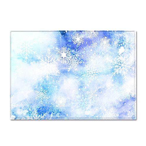 Alfombra De Decoración del Hogar De Estilo Europeo Alfombra con Patrón De Copo De Nieve Simple Y Fresco Adecuado para Alfombras En El Baño, El Dormitorio Y La Sala De Estar Antideslizante