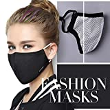 Tvoip Fashion Style Mask On The Mouth Anti dust mouth mask Activated Carbon Filter Mouth-muffle Mask (One Mask...