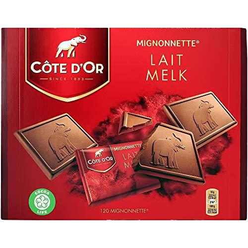Napolitains chocolat au lait Cote d'Or individuels - Boîte de 120