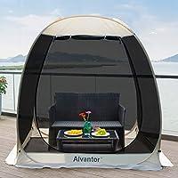 Alvantor Screen House Room Camping Tent Outdoor Canopy Dining Gazebo Pop Up Sun Shade Hexagon Shelter Mesh Walls Not…