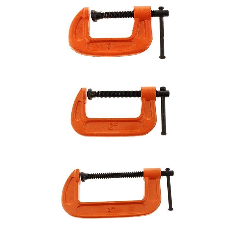 ナビゲーションさびた糞木工クランプ G型木工クランプ Gタイプツール 作業工具 3ピース