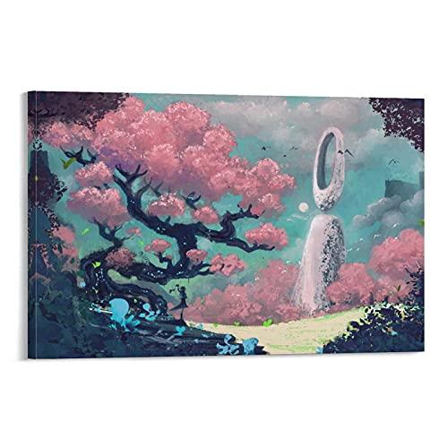 Poster d'arte dei sogni dimenticati poster murale decorazione della stanza decorazione corridoio Frame-style1 30 × 45 cm