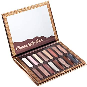 Eyeshadow Palette Chocolate - 16 Matte & Shimmery Colors - Highly Pigmented - Vegan & Cruelty Free - Professional Makeup Eye Shadow Kit - Nudes Warm Natural Bronze Neutral Smoky Make Up Shades.