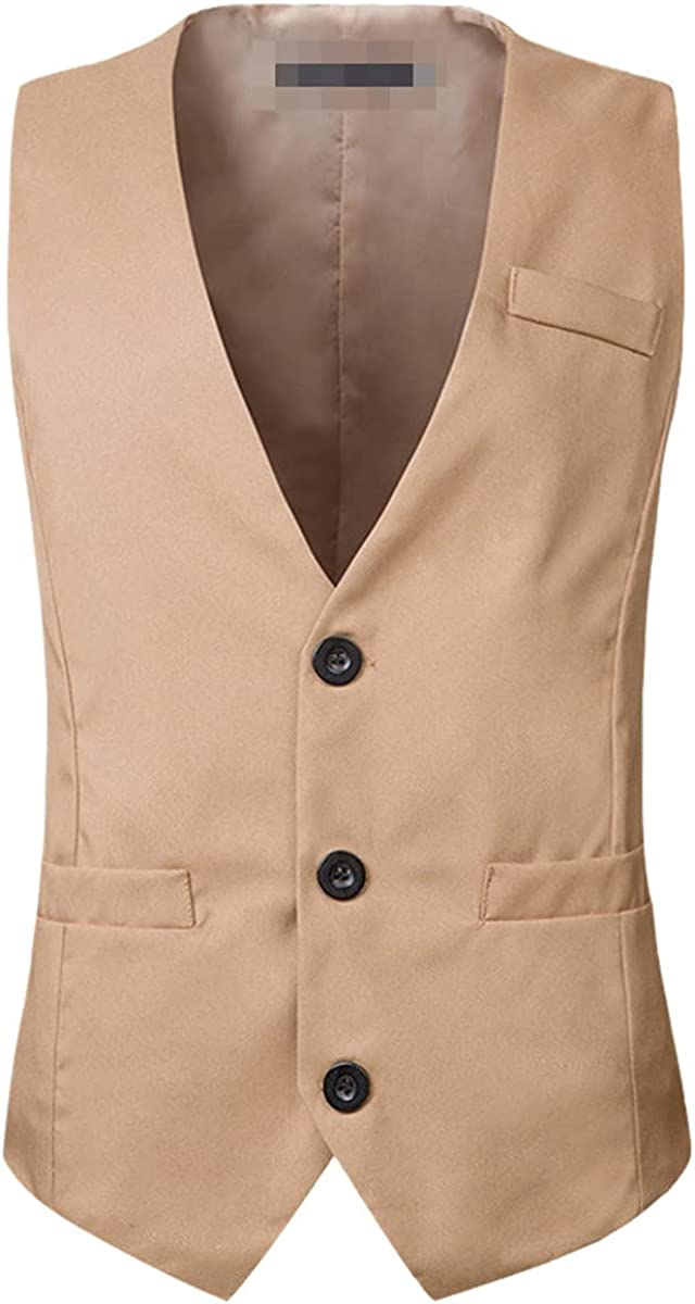 Solid color suit vest men's smart casual business vest formal social vest best man wedding