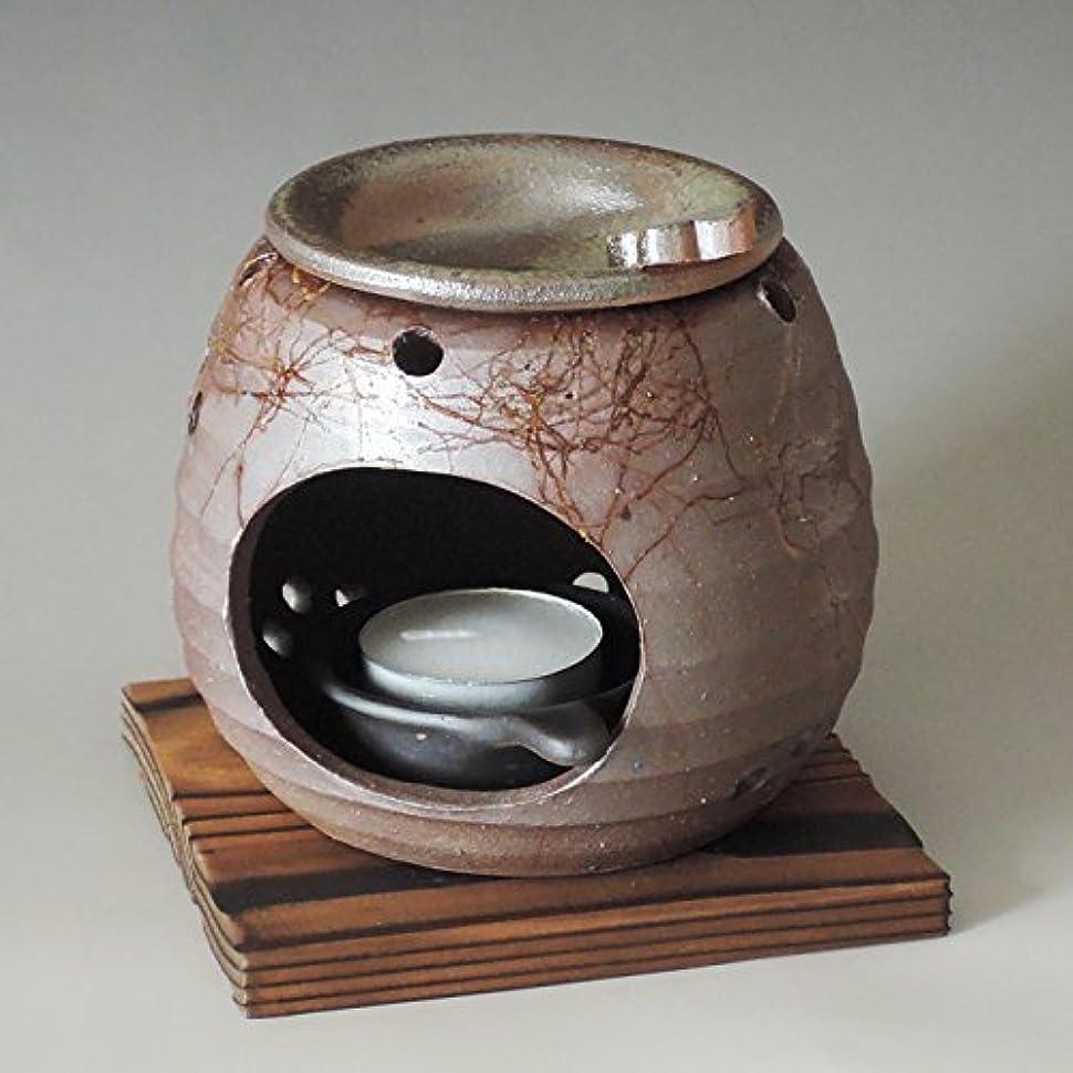 要塞もっと消す茶香炉 常滑焼 石龍作「藻掛け」川本屋茶舗