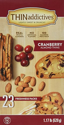 Thin addictives Cranberry Almond Thins (23 pks)