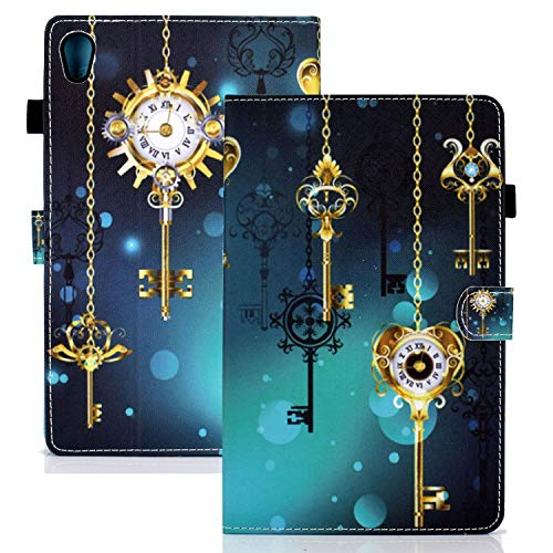 """APOLL Smart Case for Lenovo Tab M10 HD 2nd Gen 10.1 Inch 2020 Release Tablet, [Shock Absorption] Kickstand Folding Stand Case for Lenovo Tab M10 HD 2nd Gen 10.1"""" TB-X306F / TB-X306X, Antique Clock"""