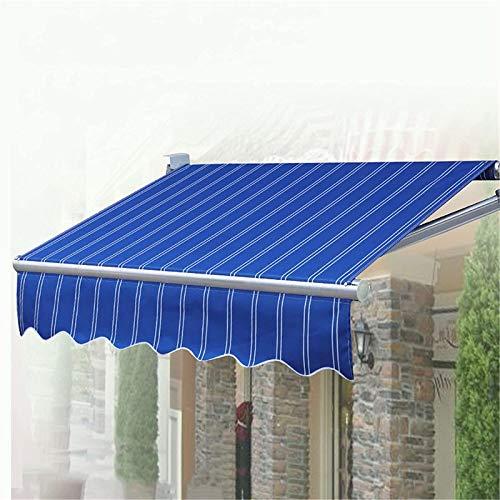 ZLRE Toldo Manual retráctil para Patio, Bloque UV, Impermeable, Parasol, toldo, Gazebo, aleación de Aluminio, inclinación Libre de 30-70 °,2m*1.5m