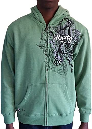 Boys RUSTY Zip Up Hoodie with Built in Speakers Small Kelly Heather product image