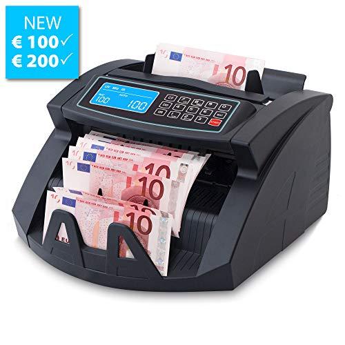 Stückzahlzähler Geldzählmaschine Geldzähler Euro SR-3750 LCD UV/MG/IR von Securina24® (Schwarz - LCD)