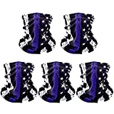 Ultimate protection: You will get 5 Purple American flag cooling face gaiter masks, covers your nose, mouth, and neck,cloth face mask make your life easier and safer, can protect your face from UV and sun burn,keep the dust out. Perfect Size:Our cool...