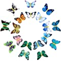 18 Pieces Butterfly Hair Clips Glitter Barrettes Butterfly Snap Hair Clips for Teens Women Hair Accessories