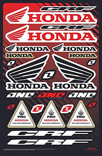 Kit DE Pegatinas Fox CRF Pegatinas DE Motocicleta DE PATROCINADOR COMPATIBLES para Casco Honda Yamaha KTM Cross Enduro (31)