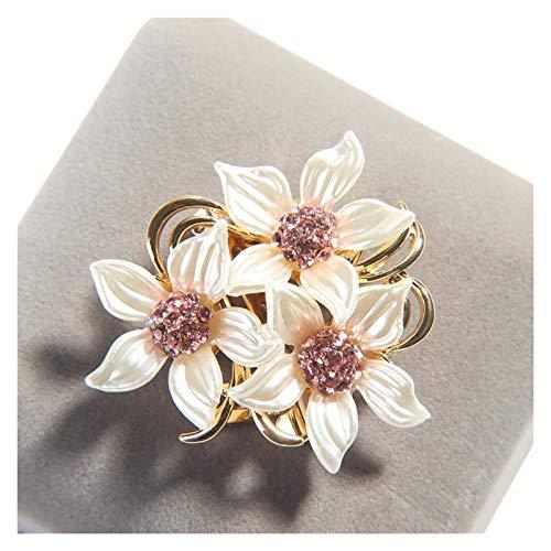 Clásico Joyas broche cristalina de la flor de la solapa de la broche del Rhinestone de las señoras de la broche de la boda grande de las señoras Broche Ropa Accesorios para mujeres, niñas, damas,
