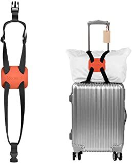 IDEARMEI Luggage Straps Luggage Bungee Suitcase bag bungee Adjustable Belt (orange)