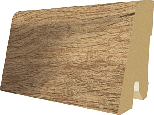 EGGER Home Sockelleiste braun L453 Fußleiste   Bodenleiste 2,4m passt zu EHC011 Halifax Eiche