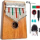 vangoa kalimba 17 tasti mogano thumb piano marimba con pickup, borsa, manuale, accordatura martello, adesivi, protezione per le dita