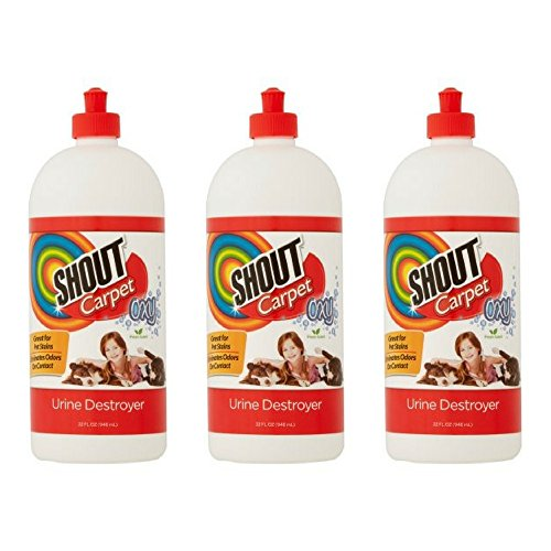 Product Image of the Shout Carpet Oxy Fresh Scent Urine Destroyer, 32 fl oz (3 PACK)