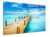 DECLINA - Cuadro de plexiglás de diseño, Cuadro de Cristal acrílico, decoración de Pared, Foto sobre plexiglás, Cuadro plexiglás, decoración Paisaje del Caribe, 50 x 30 cm
