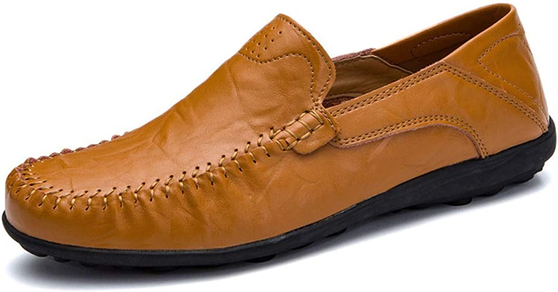 FELICIPP Leather Men's shoes Summer Peas shoes Men's Fashion Men's shoes Lazy Outdoor Casual shoes Loafers