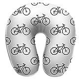 Almohada en forma de U de viaje Almohada en forma de U de vector de bicicleta Almohada en U de viaje Almohada para el cuello Almohada en forma de U suave para la salud con material resistente para ho