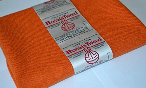 HARRIS TWEED tela 100% pura lana virgen naranja rhinocables 100/75 cm - también se vende como medio metro y arte páneles doncella eggelston es ver otros anuncios