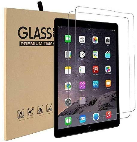 [2 Pack] Screen Protector iPad 9.7 Inch, iPad Air 2013, Air 1, iPad Air 2 2014, iPad Pro 2016 iPad 2017/2018 Tempered Glass Film 9H HD, [Premium] Shatterproof Protectors [ Easy Installation]