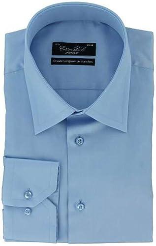 Cotton Park - Chemise Grande Longueur de Manche - Bleue - Homme