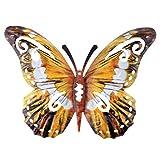 Yarnow Schmetterlinge Deko Metall Schmetterling Wandkunst Wandschmuck Gartendeko Wandbild Gartenfigur Tierfiguren für Geburtstag Hochzeit Weinachten Party Wanddeko Braun