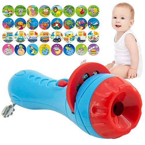 zyl Kinder Projektor Fackel Projektor Taschenlampe für über 3 Jahre Kinder, Kleine Märchen Diashow Schlafenszeit Spielzeug (Tierwelt, Fahrzeug, Weltraumuniversum, Unterwasserwelt)