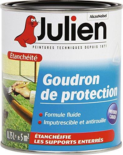Le Goudron julien115003Bas, Noir Vernis Julien 115003de Goudron, 0,75l, noir