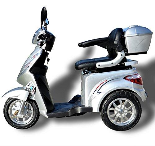 ECO Engel 501 Elektromobil (Silber), 25 km/h, 1000 Watt, E-Scooter E-Roller Senioren-Scooter mit Straßenzulassung