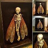 Pantalla de cuadros de sombra de hadas maldita, marco de fotos de la momia espeluznante hecha a halloween hecha a mano, para su escritorio o estante de libros, vintage decoración de pared oscura y col