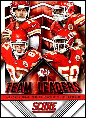 2015 Panini Score Team Leaders #26 Alex Smith/Jamaal Charles/Justin Houston/Travis Kelce Chiefs Football Card NM-MT