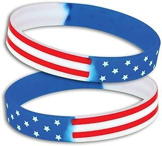 patriotic silicone wristbands