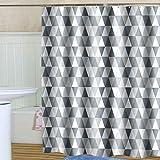 CXL Dicker wasserdichter Duschvorhang Triangle, Duschvorhang aus Polyestergewebe, Trennvorhang für Badezimmer