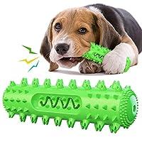 Caseeto 犬の噛むおもちゃ 音が出る 小中大型犬 歯ブラシ オモチャ 口腔ケア 歯垢取り 安心なTPR素材 投げるおもちゃ 遊びながら歯磨き 全方位歯を磨く弾力性 (グリーン)