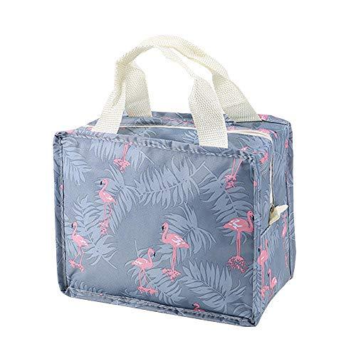 Sac cosmétique Sac de Bain étanche Voyage Portable Grande capacité Sac de Rangement de Bain Pliant Sac de Bain de Fitness 22.5 * 12. * 18.5CM-Flamingo