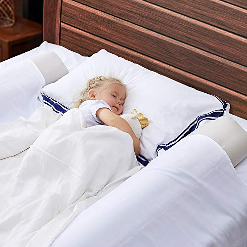 Bed Rails Bumpers for Toddlers, (2-Pack) Olarhike Inflatable and Water-Resistant Baby Safety Bed Rail Pillow Guard Bumpers for Home, Travel