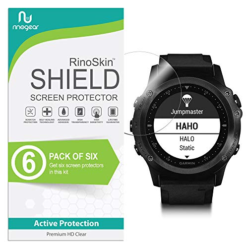 (6-Pack) RinoGear Screen Protector for Garmin Tactix Bravo Case Friendly Garmin Tactix Bravo Screen Protector Accessory Full Coverage Clear Film