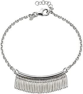 03036 - Pulsera de plata de ley para mujer con pequeños flecos