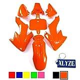 XLYZE Orange carenado kit de defensa de plástico para Honda Piranha CRF50 XR50 50cc 70cc 90cc 110cc 125cc 140cc 150cc 160cc suciedad Pit Bike SDG SSR