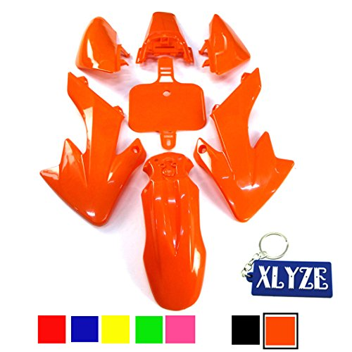 XLYZE Orange carenado kit de defensa de plástico para Honda Piranha CRF50 XR50 50cc 70cc 90cc 110cc 125cc 140cc 150cc 160cc suciedad Pit Bike SDG SSR