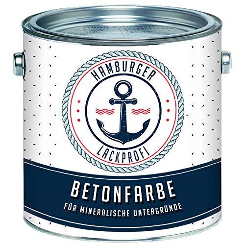 Betonfarbe SEIDENMATT Karminrot RAL 3002 Rot Bodenfarbe Bodenbeschichtung Betonbeschichtung Fassadenfarbe // Hamburger Lack-Profi (2,5 L)