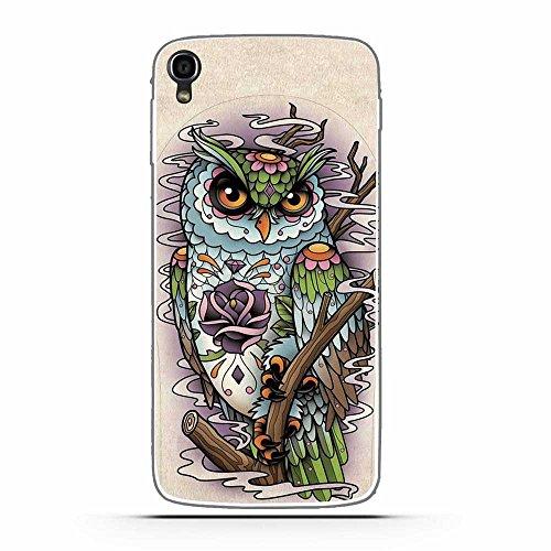 FUBAODA for für Alcatel One Touch Idol 3 (5.5inch) Hülle, Cartoon Owl Tigger Lion Künstlerische Malerei-Reihe TPU Case Schutzhülle Silikon Case für for für Alcatel One Touch Idol 3 (5.5inch)