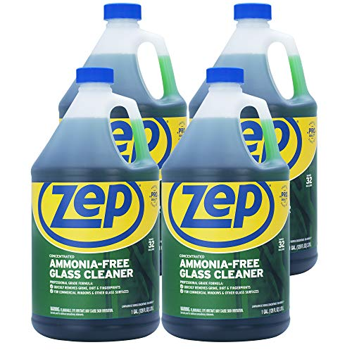 Zep Ammonia Free Glass Cleaner Concentrate 128 ounce ZU1052 (Case of 4) Commercial Strength