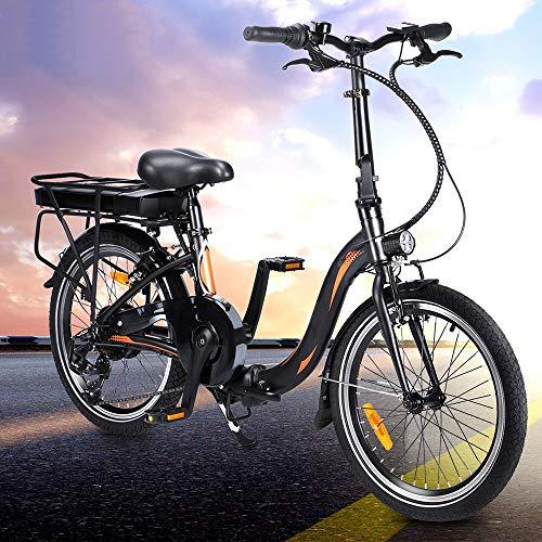 E-Bike 20 Zoll Elektrofahrrad, Faltbares E-Bike Fahrrad FüR Erwachsenemit 250w Motor 7-Gang-Getriebe,ElektrofahrräDer Mit 36v 10ah Abnehmbarer Lithium Akku,Hchstgeschwindigkeit 25 km/h [Poland Stock]