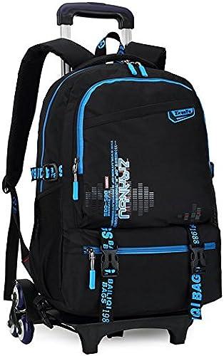 LGBEIBAOX mädchen Studenten Polyester Oxford Tuch Trolley Tasche Doppelter Schulter Rucksack Handzug Box